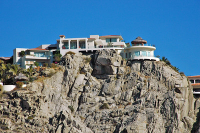 Some of the houses of the rich and famous at Cabo.