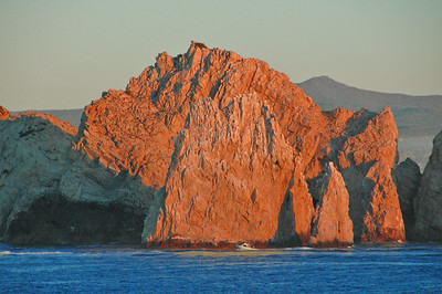 Just north of the famous arch at Cabo San Lucas. Many fishing boats were heading out of the bay at dawn.