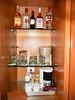 Stocked bar...allowed a bottle of spirits each day.