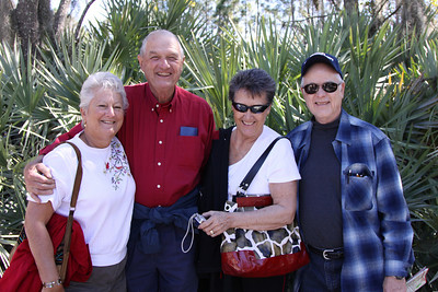 Mom and Dad with Uncle Tom and  Aunt Jan in Tampa.