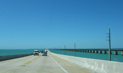 Driving south to Key West.