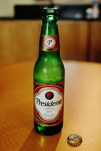 Presidente beer. What the heck- a good way to start the trip.