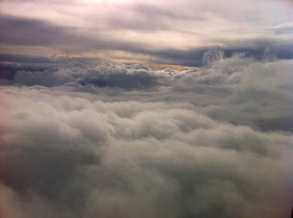 Some nice clouds on the way to Miami.