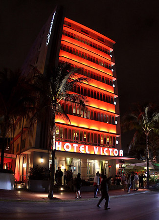 Ocean Drive-  Miami South Beach. Had  to check out the nite life. It's a bit touristy, but a must see if you visit Miami.
