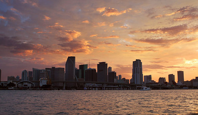 The second night, we scouted out a spot to take some Miami skyline photos. We got there before sunset and hung out 1-2 hours until it was dark. Took lots of photos and the sunset was awesome.
