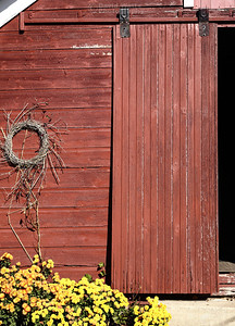Barn Door, with Wreath