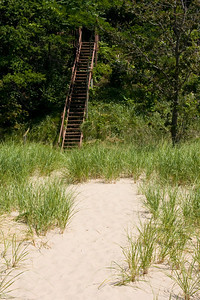 Stairs to our beach.  Built in 1995 by Dad and Andy.