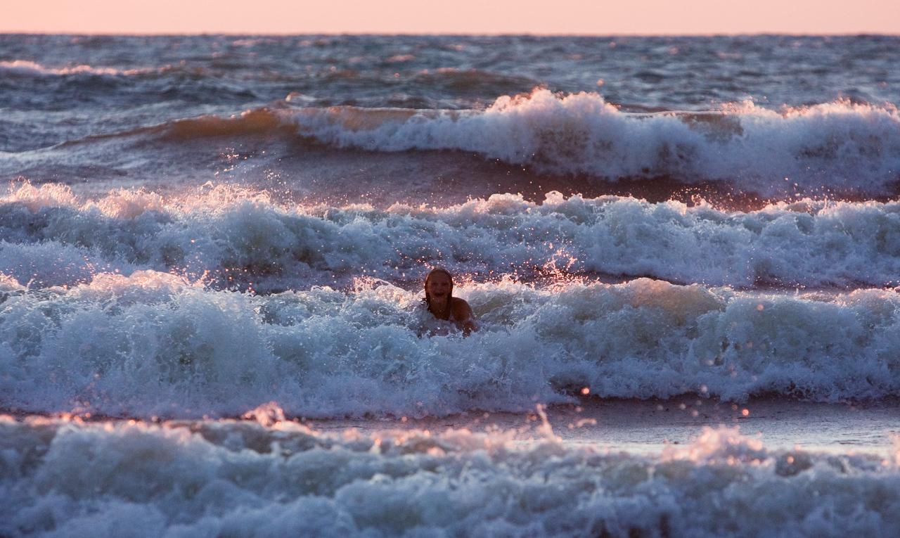 Madison battling waves