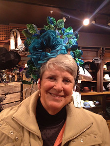 February 1, 2014 - (Mall of America [Chapel Hats] / Bloomington, Hennepin County, Minnesota) -- MaryAnne trying on a hat