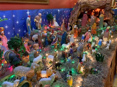 Christmas Crèche Display @ Maya Family Mexican Restaurant in Hermantown