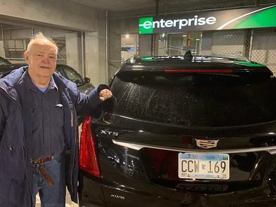 "David with 2019 Cadillac XT4 ""Enterprise"" Rental Car @ Minneapolis Saint Paul International Airport (MSP)"