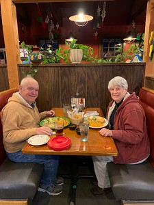 David and MaryAnne Dining @ Maya Family Mexican Restaurant in Hermantown
