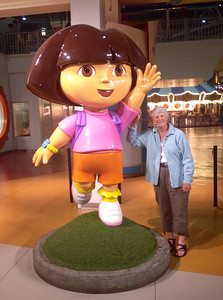 """May 15, 2013 - (Mall of America [Nickelodeon amusement area] / Bloomington, Hennepin County, Minnesota) -- """"Dora the Explorer"""" and Mary Anne"""