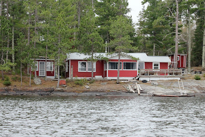May 18, 2013 - (Rainy Lake [Last Island] / Fort Francis, Rainy River County, Ontario) -- Wayne & Nancy's cabin