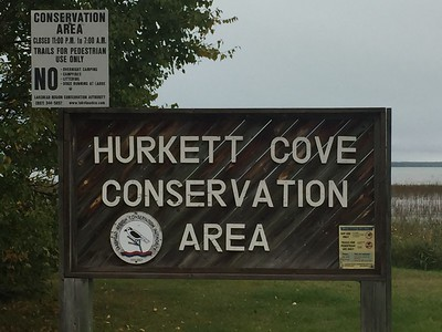 Hurkett Cove Conservation Area Signage in Ontario