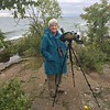 MaryAnne with Scope @ Grand Marais Lighthouse