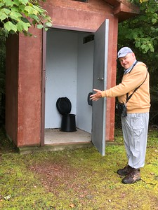 David at unpleasant Bathroom @ Hurkett Cove Conservation Area