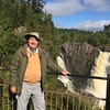 David with Pigeon River Waterfalls @ Grand Portage SP