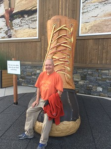 David on LL Bean Boot Outside Mall of America