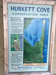 Hurkett Cove Conservation Area Map in Ontario