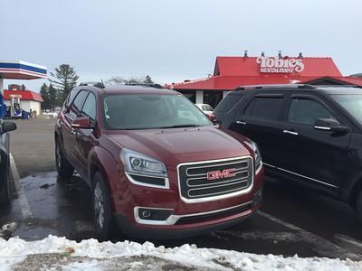 "GMC Acadia ""Enterprise"" Rental Car @ ""Tobies Restaurant & Bakery"""