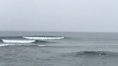 Surfer on Lake Superior Waves [MOVIE] @ Stoney Point