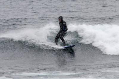 Surfer on Lake Superior Waves @ Stoney Point