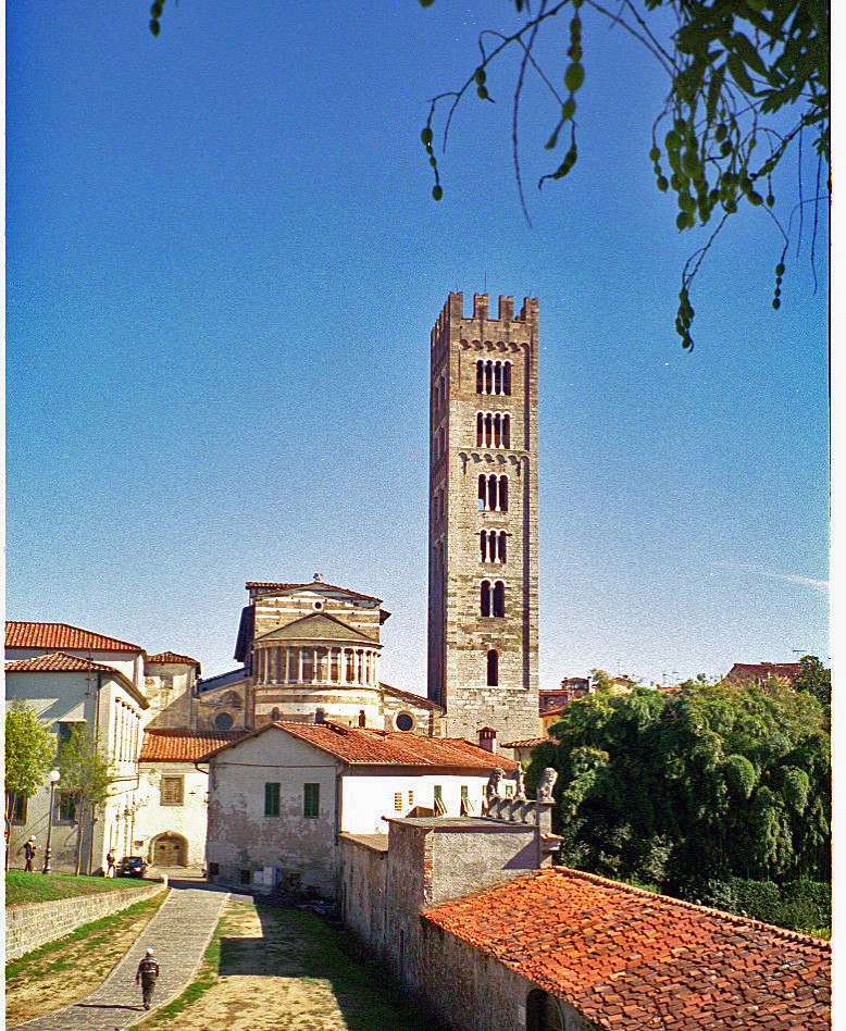 Duomo and tower in Lucca, Italy