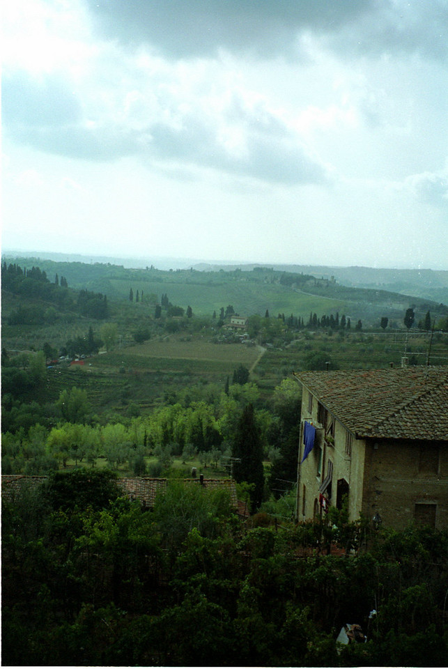 View from the city wall, Gimignano, Italy