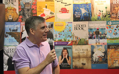 June 25, 2011 (New Orleans [Convention Center] / Orleans Parish, Louisiana) - Author Rick Riordan answering questions at ALA