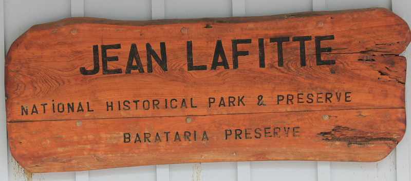 June 26, 2011 (Jean Lafitte National Historical Park & Preserve [Barataria Preserve Visitor Center Trails] / Jefferson Parish, Louisiana) - Visitor Center signage