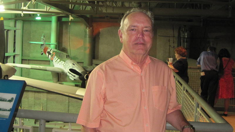 June 25, 2011 (New Orleans [World War II National Museum] / Orleans Parish, Louisiana) - David with Messerschmidt aircraft in background