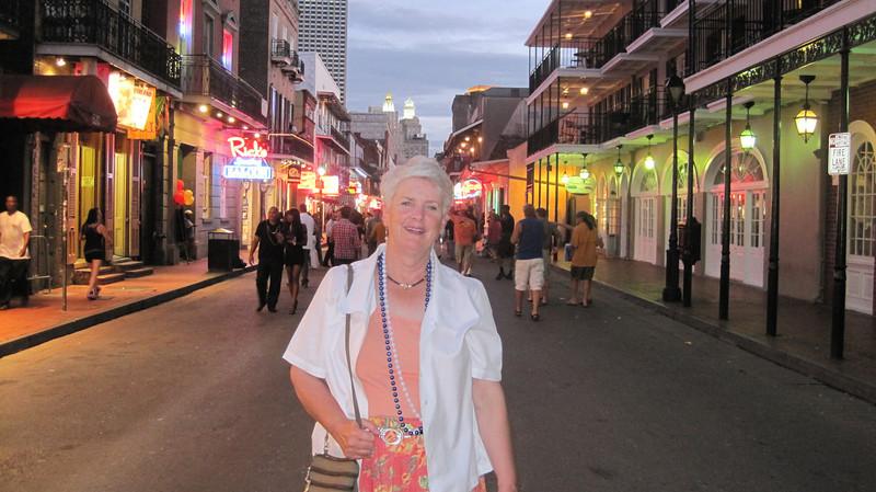 June 24, 2011 (New Orleans [Bourbon Street] / Orleans Parish, Louisiana) - Mary Anne on Bourbon Street
