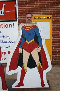 Todd as a female Superman in Metropolis, IL ( 2012 )