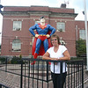 Lori with the Superman Statue in Metropolis, IL ( 2012 )