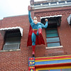 Superman flying high in Metropolis IL ( 2012 )