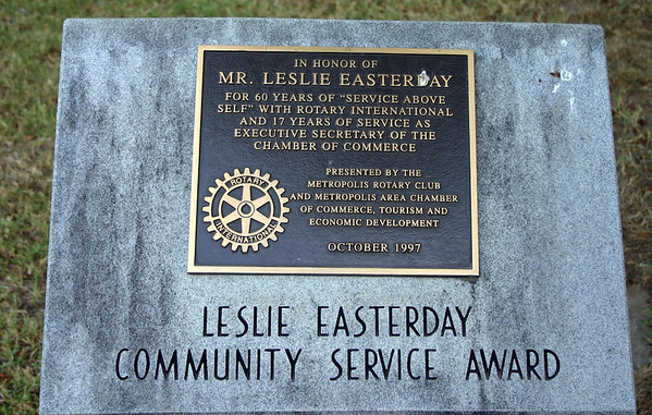 A Memorial Stone in Metropolis IL, could she be related? ( 2012 )