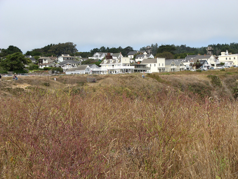 The town of Mendocino.