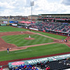 Hammons Field.  View from Section DD, Row 1, Seat 9 in the Roost.