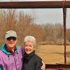 Mom and Dad on Joe Dice's Grand Glaize swinging bridge.