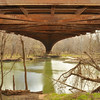 Underside of the swinging bridge