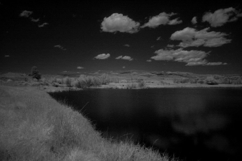 Pond in front of Boulder Hot Springs, taken with infrared filter