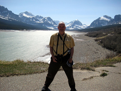 May 16, 2008 (Many Glaciers Entrance to Glacier Nat'l Park) - Mountains, Lake Sherburne & David