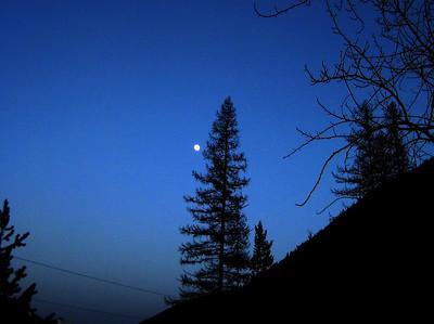 May 16, 2008 (Essex / Izaak Walton Lodge) - Moon over Montana
