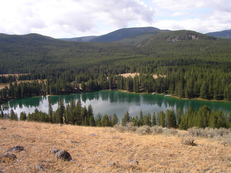 Moose Lake from top of The whale