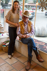 This is Summer (Google refugee) and Cowboy Pete at the Parsonage Winery tasting room.