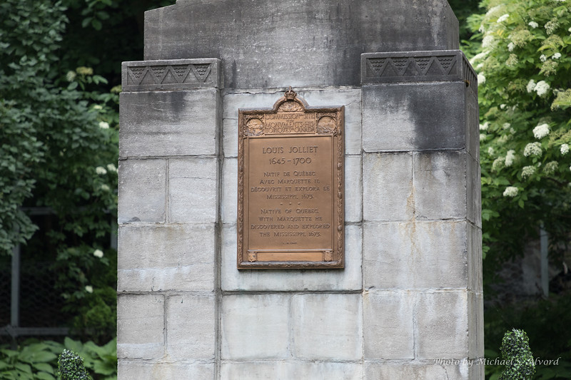 Louis Jolliet monument. He was one of the original founders of Quebec City.