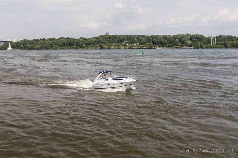 The St Lawrence river runs right next to downtown so there is a lot of boat traffic. The current is also VERY fast.