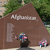 they also had a memorial to the local service people lost in Afghanistan and Iraq.