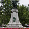 This is a Memorial to the Boer War. It is also the only equestrian statue in Montreal.
